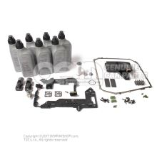 Audi DSG 7 speed S-tronic service kit 0B5 DL501 with mechatronic repair kit 0B5398048D