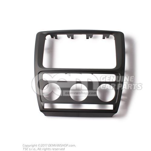 Trim for switch satin black Skoda Octavia 1Z 1Z0858069C 9B9