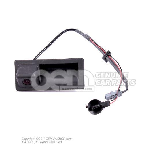 Bouton-poussoir d'actionneur electrique serrure de trappe 5N0827566A