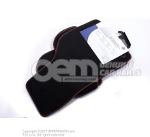 1 комплект ковриков черный/красный 1K1061271PBRYJ