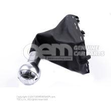 Pommeau levier vitesses (alu) avec gaine prot.p.levier(cuir) soul (noir) 8E0863278DQSKH