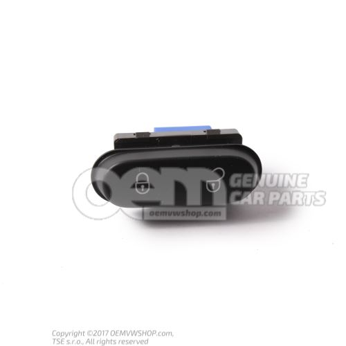 Safety switch for central locking system black 5P0962125A 3X1