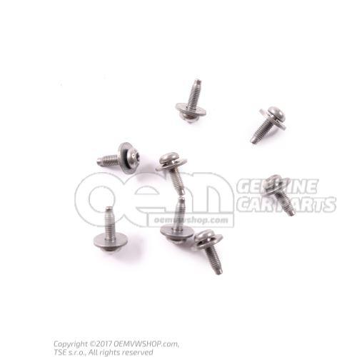 N  90729002 Vis tete bombee(avec rondelle) M5X16