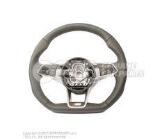 Volante deportivo multifuncion (cuero) volante deportivo multifuncion (cuero con agujeros) soul (negro)/gris roca Audi TT/TTS Coupe/Roadster 8S 8S0419091ABJAH