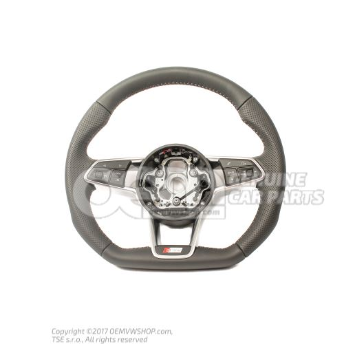 Volant sport multifonctions (cuir) volant sport multifonctions (cuir ajoure) soul (noir)/g Audi TT/TTS Coupe/Roadster 8S 8S0419091ABJAH