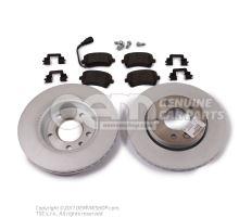 1 jeu de disques de frein et garnitures avec indicateur d\\\usure \\\eco\\\ JZW698601AK