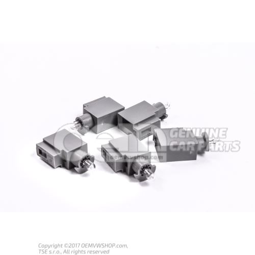 Bulb carrier with bulb crystal clear 357919243D