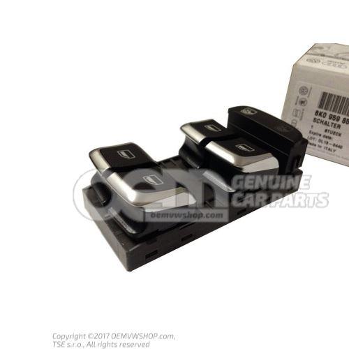 Switch for electric window regulator nero (black) 8K0959851F V10