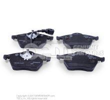 1 set: brake pads with wear indicator for disc brake front 1J0698151M