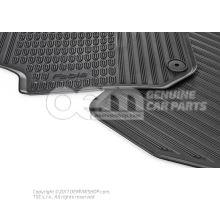 1 set foot mats (rubber)
