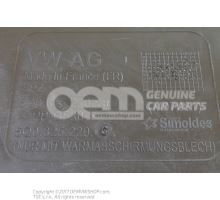 Underbody trim diesel eng.+ 5Q0825229C