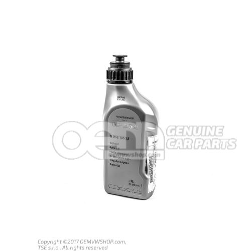 Axle oil for rear axle differential see workshop manual