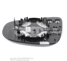 Miroir (convexe) avec plaque-support miroir (aspherique - grand angle) avec plaque-support 5K0857522D
