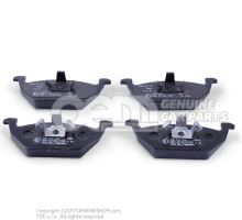 1 set of brake pads for disk brake \\\eco\\\ front JZW698151A