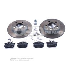 1 set brake discs with      'ECO' brake pads JZW698601AC