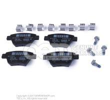 1 комплект тормозных колодок для дисковых тормозов 5K0698451C