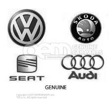 1 set foot mats (rubber) black Volkswagen Caddy 2K 2K1061550 041