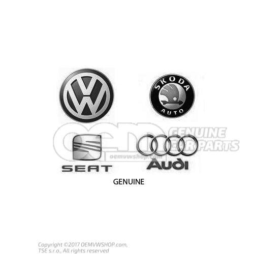 Gearstick knob (alu) with gearstick trim (leather) soul (black)/silver Audi A3 Saloon/Sportback 8P 8P0863278CHSZQ