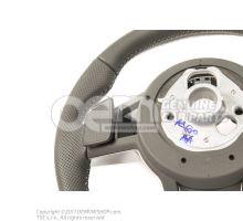 Volante deportivo multifuncion (cuero con agujeros) volante deportivo multifuncion (cuero) soul (negro)/gris roca 8S0419091ABJAH