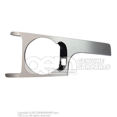 Cache argent aluminium brosse 8J1863916H 1NK
