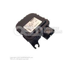 Control motor for temperature regulating flap