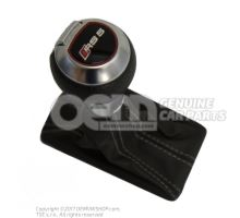 Empunadura p. palanca cambio soul (negro)/gris roca Audi RS5 Coupe/Cabriolet Quattro 8T 8K1713139F NOR