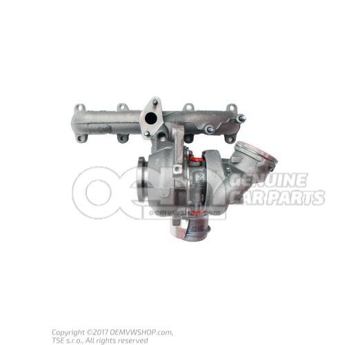 Collecteur d'echappement avec turbocompresseur a gaz d'ech. 03G253014M