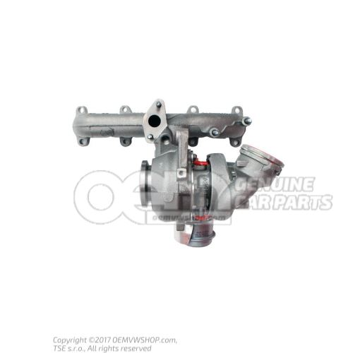 Exhaust manifold with turbo- charger 03G253014M