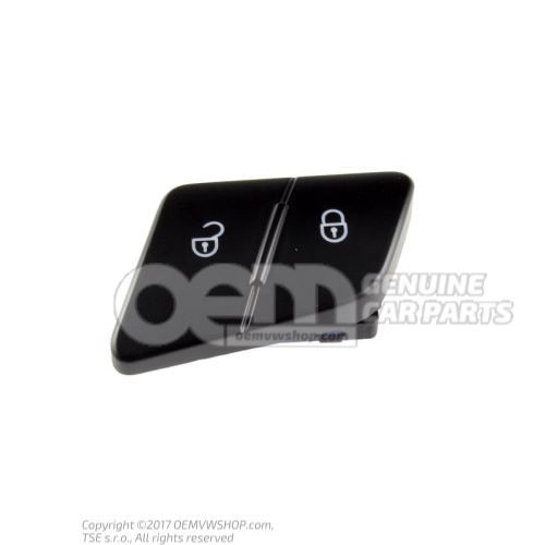 Safety switch for central locking system black/white 3C0962125B REH
