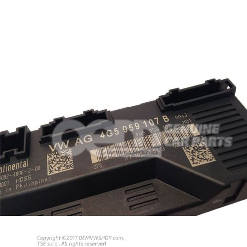Control unit for tailgate 4G5959107B
