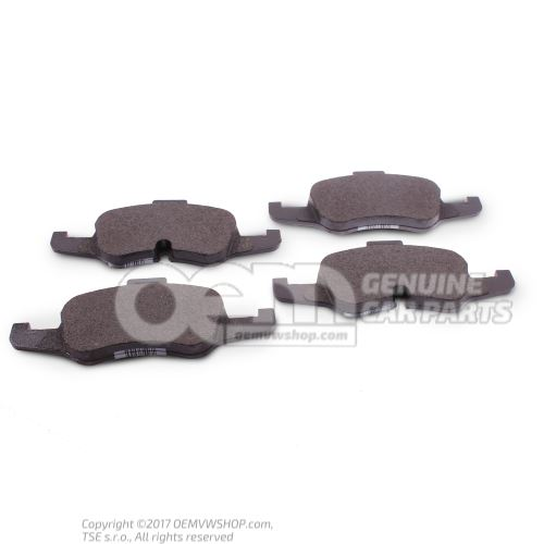 1 комплект тормозных колодок для дисковых тормозов Audi TT/TTS Coupe/Roadster 8S 8S0698151B