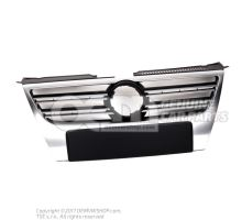 Grille de calandre grille de calandre avec baguette decorative chromee aluminiun 3C0853651P 3Q7