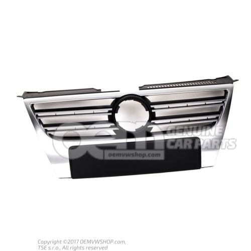 Grille de calandre avec baguette decorative chromee au besoin retoucher grille de calandre aluminiun Volkswagen Passat/Variant/4Motion 3C 3C0853651P 3Q7