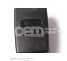 Belt latch satin black/fire red 5P0857755J QVZ