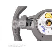 Volant Audi Sline d'origine à fond plat avec airbag