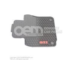1 jeu tapis sol (caoutchouc) monogramme version noir conduite à gauche rouge av et ar Volkswagen Golf/Golf R32 5K 1K1061550HB041