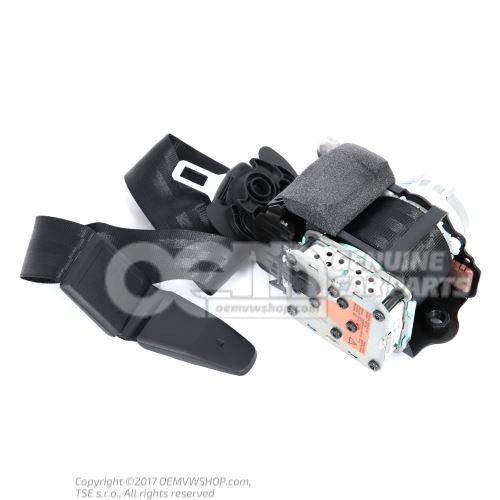 Three-point inertia reel seat belt with belt tensioner and belt pressure limiter black/satin black left Audi A5/S5 Coupe/Sportback 8K 8T8857705F V04