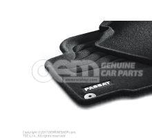 1 set footmats (textile) black