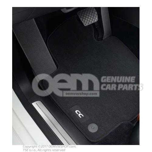 1 juego alfombrillas (textil) antracita Volkswagen Passat CC/CC 3C 3C8061270 WGK