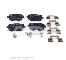 1 комплект тормозных колодок для дисковых тормозов 1K0698451K