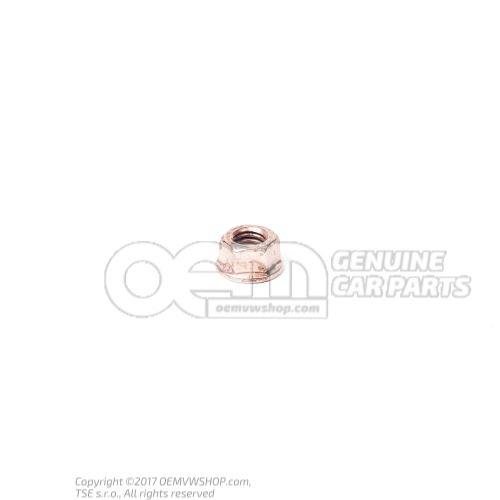 N  91130801 Шестигранная гайка с буртиком, самоконтрящаяся M8