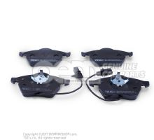 1 set of brake pads with wear display for disc brakes \\\eco\\\ JZW698151N