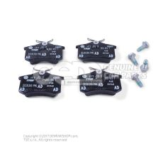 1 set of brake pads for disk brake 5K0698451B