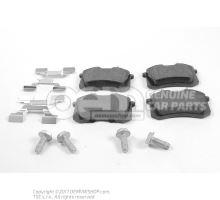 1 serie de plaquettes de frein p. frein a disque 1J0698451K