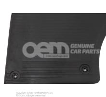1 set foot mats (rubber) black Volkswagen Touareg 7P 7P1061500 041