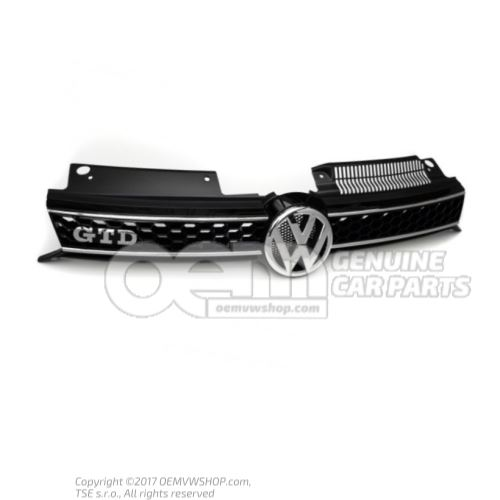 Решётка радиатора блестящий chrom/чёрный Volkswagen Golf 5K Volkswagen Golf 5K 5K0853651BGATL