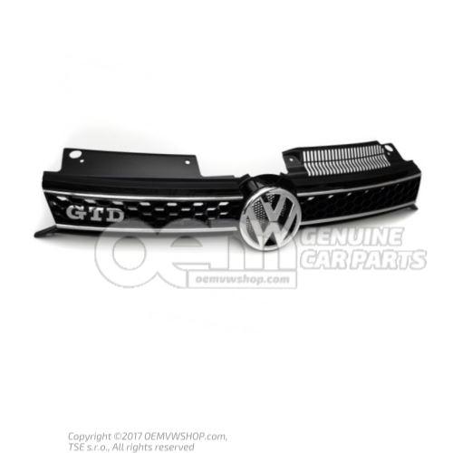 Radiator grille high chrome/black Volkswagen Golf 5K0853651BGATL