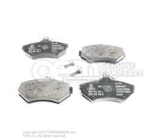 1 комплект тормозных колодок для дисковых тормозов 8E0698151N