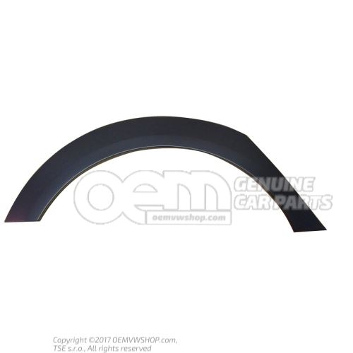 Trim for wheel arch soul (black) right rear Audi A6 Allroad Quattro 4F 4F9853818 V7W