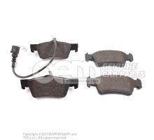 1 set of brake pads for disk brake brake pad wear display 7H8698451